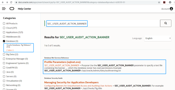 SEC_USER_AUDIT_ACTION_BANNER_11gR1